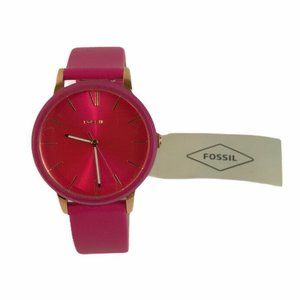 Fossil Cambry Three-Hand Pink Leather Watch BQ3589